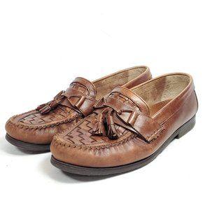 Giorgio Brutini Tassel Woven Toe Loafers Men's